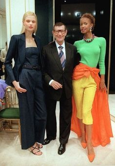 Saved by Barb Quick Saint Laurent: Yves Saint Laurent with models dressed in his latest…