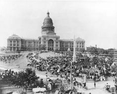 Texas State Capitol Dedication Of Fire Fighters Monumnent - Austin Texas old photo