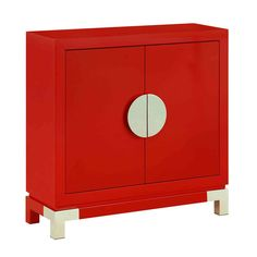 Red Two Door Cabinet Cabinets Accent Cabinets & Chests Accent Furniture