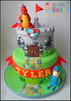 Knight And Dragon Castle Cake Cakes And Cupcakes For Kids Birthday Party Pinterest Knight Castles And Dragons