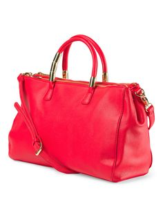 This bright and cheery satchel with strap handbag is a fun way to spruce up any outfit!