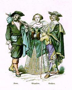 Peasant, Townswoman, Merchant
