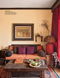 Living room, from Architectural Digest India