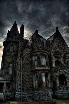 Dusk, Craigdarroch Castle, British Columbia, Canada