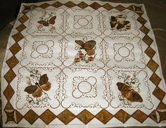 Exotic butterflies quilt Machine Embroidery Quilts, Applique Quilts, Quilting Ideas, Quilt Patterns, Quilt Corners, Butterfly Quilt, Embroidered Quilts, Embellishments, Butterflies