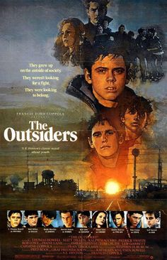 """In 1965 Tulsa, Oklahoma, Greasers are a gang of tough, low-income working-class teens. They include Ponyboy Curtis (Howell) and his two older brothers, Sodapop (Lowe) and Darrel (Swayze), as well as Johnny Cade (Macchio), Dallas Winston (Dillon), Two-Bit Matthews (Estevez), and Steve Randle (Cruise). Their rivalry is with the Socs (pronounced """"soashes""""), a gang of wealthier kids from the other side of town."""