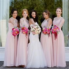 Light Pink Long Bridesmaid Dresses...here's that dress in pink! Just so you get an idea of how it looks in real life!