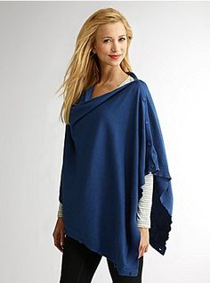 Must Have #4: Convertible Sweater Scarf, wear it as a poncho, asymmetrical cape, nursing cover, stole, infinity scarf, shrug or bolero! Buttons along the shoulder, sleeve and hem help convert the piece to your liking.