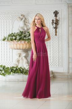 Elegant Purple Chiffon Bridesmaid Dresses with Halter Top Pleated Skirt in Floor Length. Get incredible discounts up to 70% Off at Wish Bridal with Coupon and Promo Codes.