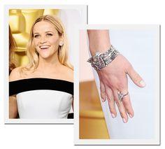 Oscar 2015: Reese Witherspoon, que foi indicada a melhor atriz por sua atuação em Livre, com diamantes Tiffany & Co (Foto: Getty Images)