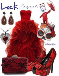 """Lock Masquerade"" by cheshirehatter ❤ liked on Polyvore Masquerade Outfit, Masquerade Dresses, Masquerade Costumes, Masquerade Party, Disney Outfits, Disney Fashion, Women's Fashion, Venetian Costumes, Renaissance Dresses"