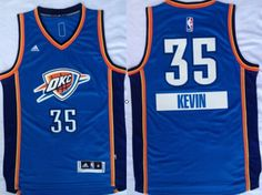 Oklahoma City Thunder  35 Kevin Durant Revolution 30 Swingman 2014  Christmas Day Blue Jersey 4f51924c9