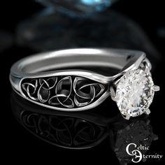 Celtic Moissanite Solitaire Ring Celtic Engagement Ring | Etsy Handmade Wedding Rings, Antique Wedding Rings, Diamond Wedding Rings, Celtic Engagement Rings, Dream Engagement Rings, Mens Celtic Wedding Bands, Solitaire Ring, Ring Ring, Thing 1
