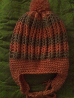 Hat  Childs hat with ear warmers and under chin tie. by Rudjon