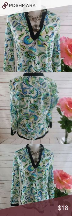 Charter Club Paisley Cotton Tunic Size 8 This is a Charter Club brand Paisley cotton dotted Swiss light fabric. It is ladies size 8. It is 100% cotton. It is in like new condition and sold without stains or flaws. Charter Club Tops Tunics