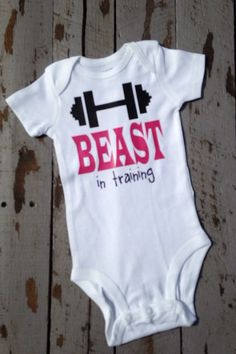 Baby girl Beast In Training workout baby bodysuit Baby girl Outfit birthday  personalized shirt crossfit baby shower gift 36e7fa754ec