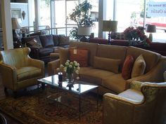 Like the curve on the couch. No the chairs though. Curved Couch, Sofa Outlet, Great Rooms, Flooring, Chairs, House, Furniture, Photos, Home Decor