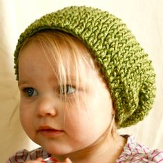 How sweetly chic is this slouchy beanie for kids?