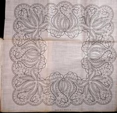 Point Lace pattern from the book Le Dentelle Renaissance (Renaissance lace aka Tape Lace) by Thérèse de Dillmont. In the public domain. This book had the patterns printed on linen cloth and attached in the book. More patterns in book and all can be used for Romanian Point Lace.