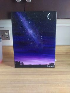Twilight Night Sky Milky Way Galaxy Acrylic by TheSpaceBorn