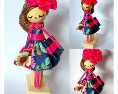 brooch doll jewelry doll