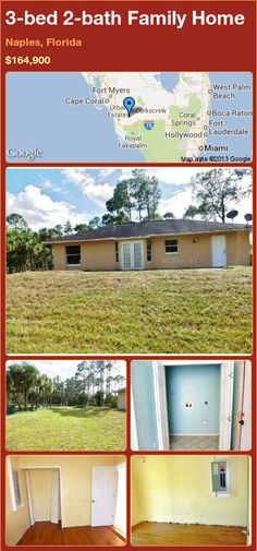 3-bed 2-bath Family Home in Naples, Florida ►$164,900 #PropertyForSale #RealEstate #Florida http://florida-magic.com/properties/78116-family-home-for-sale-in-naples-florida-with-3-bedroom-2-bathroom