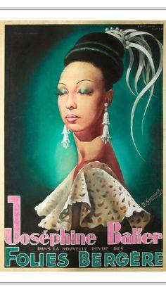 Joséphine Baker poster Folies Bergére