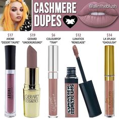 Dupes for Cashmere by Limecrime