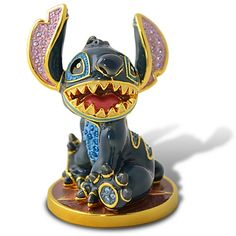 Limited Edition Jeweled Stitch Figurine with Base by Arribas