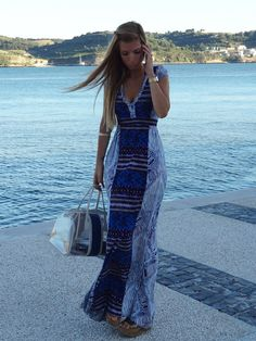 Something about this long summer dress