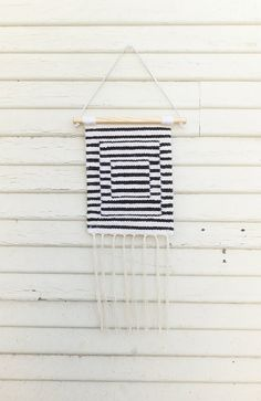 """Handwoven Tapestry / Woven Wall Hanging / Weaving """"Stripes and Stripes and Stripes"""""""