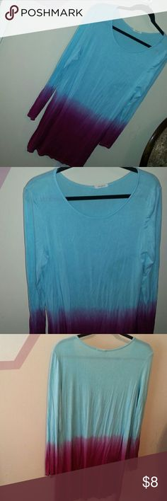 Blue and hot pink dress Blue and hot pink dress, used once, has a few fuzzy spot, a great light weight throw on dress, may nerd a slip, fits like a large Dresses Mini