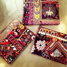 Our super funky, one-of-a-kind ethnic clutches are coming soon all the way from India! ✈️  Message us to reserve or email info@be-snazzy.com for wholesale enquiries  #ethnic #embroidered #clutches