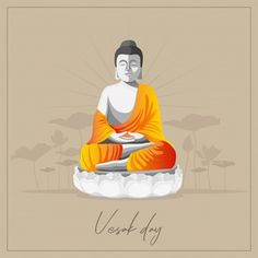 Thai silhouette | Free Vector Wesak Day, Office Colleague, Birthday Wishes Greetings, Buddha Painting, Wishes Images, Vector Photo, Vector Background, Vector Free, Happy Birthday