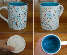 pottery painting mug ideas - Google Search