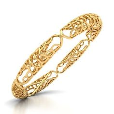 2106a82fa7e6 Buy Gold Petiole Gold Bangle Jewellery Online