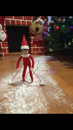 Elf on the Shelf Ideas for Kids With Messages Which Kids Are Gonna Love - Hike n Dip - - Here are over 70 Elf on the Shelf Ideas for Kids. These funny Elf on the Shelf ideas with notes will surely be a fun thing to do with kids for Christmas. Noel Christmas, Christmas Elf, Christmas Balls, Christmas Crafts, Christmas Decorations, Christmas Messages, Christmas Holiday, Christmas Ideas, Woody Und Buzz