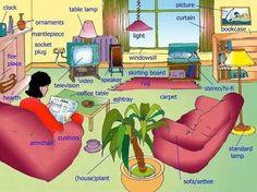 English vocabulary - Living room