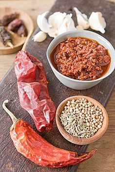 Try rubbing this fiery Tunisian chile paste on meats or fish before searing or grilling, or stir a small spoonful into some mayonnaise for a sandwich spread with a kick. Also mix a dollop into butter and toss with steamed veggies or couscous. The hotter the chiles, the hotter the harissa, so experiment and use sparingly to taste.