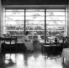 Golconde Dormitory of the Sri Aurobindo Ashram, Pondicherry, India (1945)  Architects: George Nakashima, Antonin Raymond