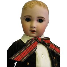 """22"""" Antique French Bisque Doll SFBJ PARIS with Hand-Modeled Molded from turnofthecenturyantiques on Ruby Lane"""