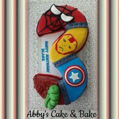 Super heroes' cake, marvel rangers cake