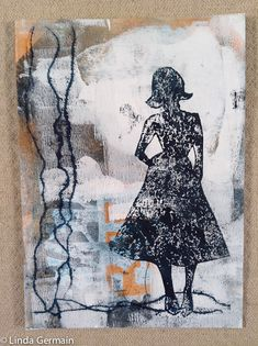 mixed media gelatin print by linda germain Click through for more info