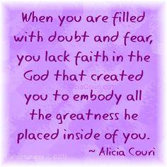 The greatness of Faith