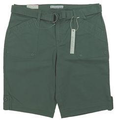 Gloria Vanderbilt Ladies Size 14 Sierra Belted Bermuda Short, Sweet Basil