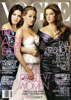 Priscilla Presley, Riley Keough and Lisa Marie Presley for Vogue US August 2004