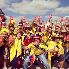 The Colombia fans are in!