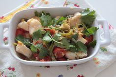Cubinhos de Peixe com Legumes e Gengibre