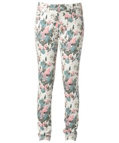 Joe Browns Stand Up Fleur Yourself Jeans - Give your summer look a funky twist with these crazy floral stretch jeans.