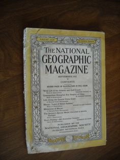 National Geographic September 1932 Vol LXII No. Three - Atlantic & Gulf Coasts - for sale at Wenzel Thrifty Nickel ecrater store